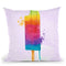 Popcicle Throw Pillow by Jodi Pedri