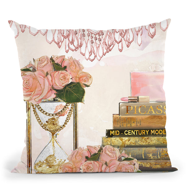 Spring Reading Throw Pillow by Jodi Pedri