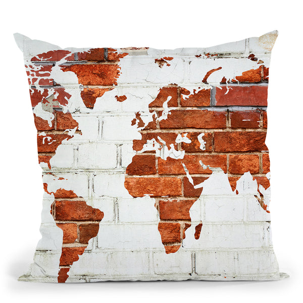 Another Brick In The Wall Throw Pillow by Jodi Pedri