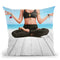 Yoga Beach Girl Throw Pillow by Jodi Pedri
