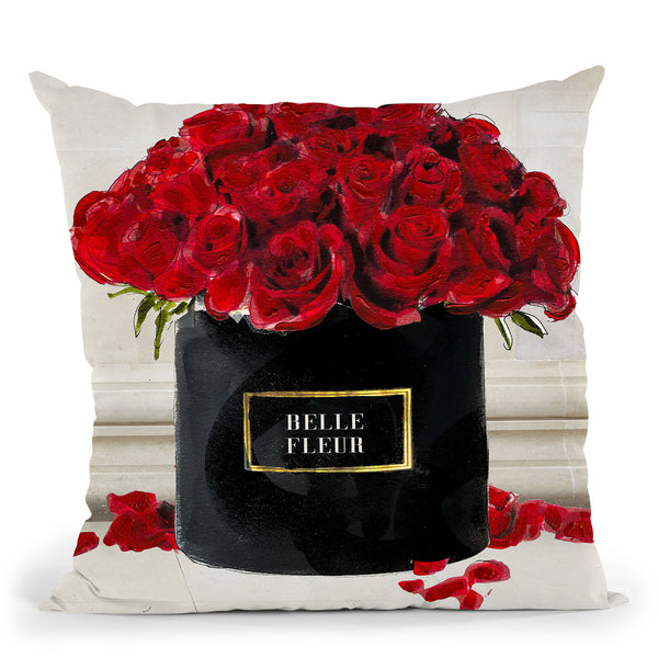 Forever Red Roses Throw Pillow by Jodi Pedri