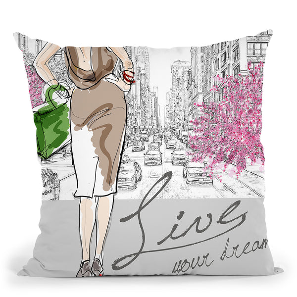 Live Your Dream Throw Pillow by Jodi Pedri