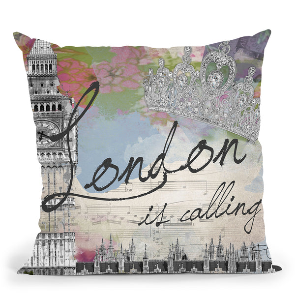 London Calling Throw Pillow by Jodi Pedri