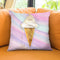 Glitter Ice Cream Throw Pillow by Jodi Pedri