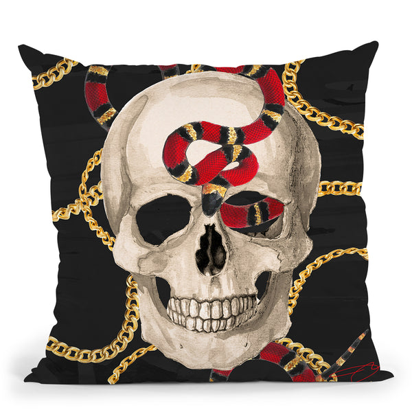 Snake Charmer Throw Pillow by Jodi Pedri