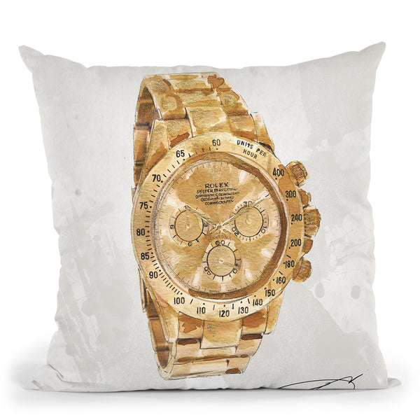 My Man'S Watch Throw Pillow by Jodi Pedri