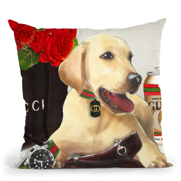 King Charles In Style Throw Pillow By Jodi Pedri