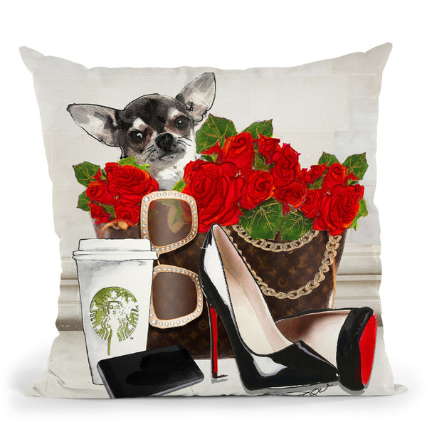 Never Fill Daschound Throw Pillow By Jodi Pedri