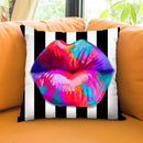Pucker Up Multi Throw Pillow by Jodi Pedri