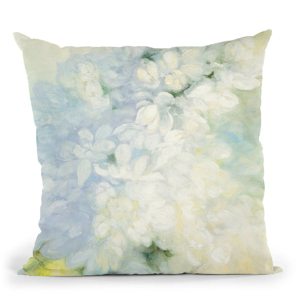 White Lilacs Bright Throw Pillow By Julia Purinton