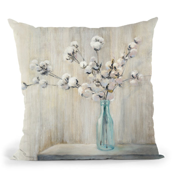 Cotton Bouquet Throw Pillow By Julia Purinton
