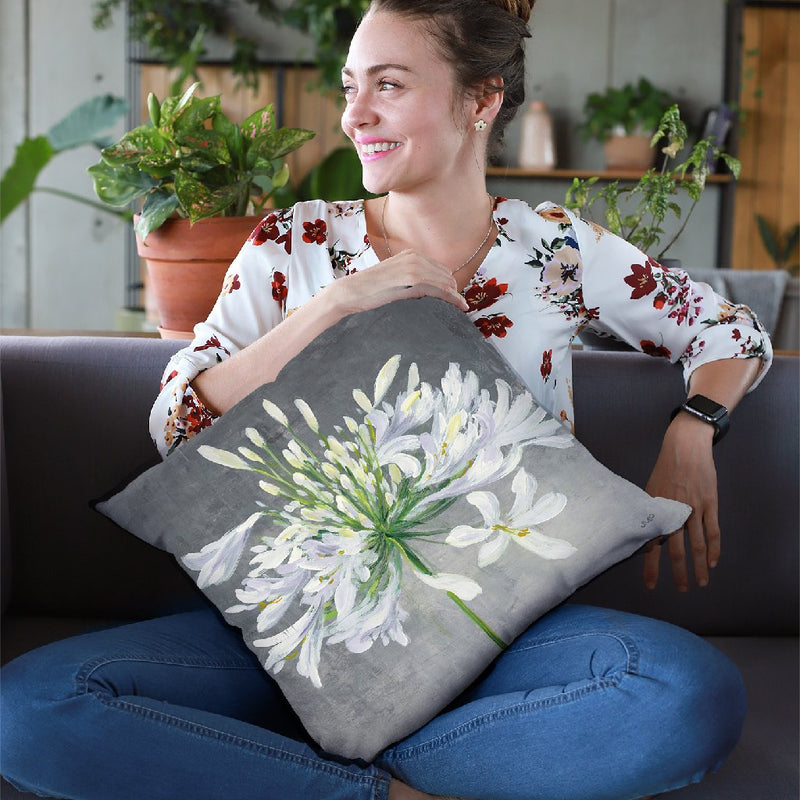 Cleome Splash I Throw Pillow By Julia Purinton
