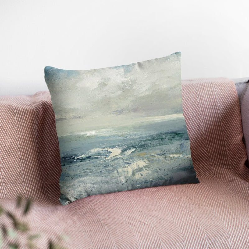 Waves Throw Pillow By Julia Purinton