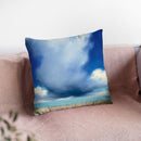 Beach Clouds I Throw Pillow By Julia Purinton