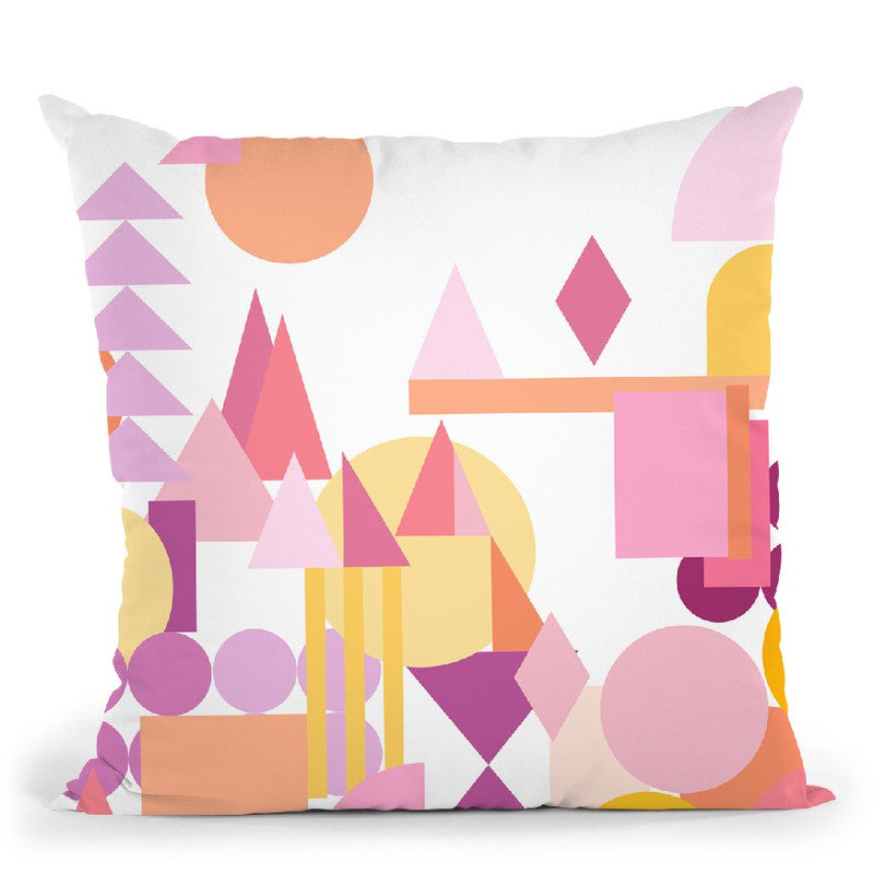Geometric Vi Throw Pillow By June Journal