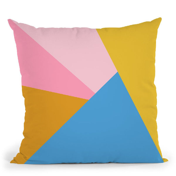 Geometric X Throw Pillow By June Journal