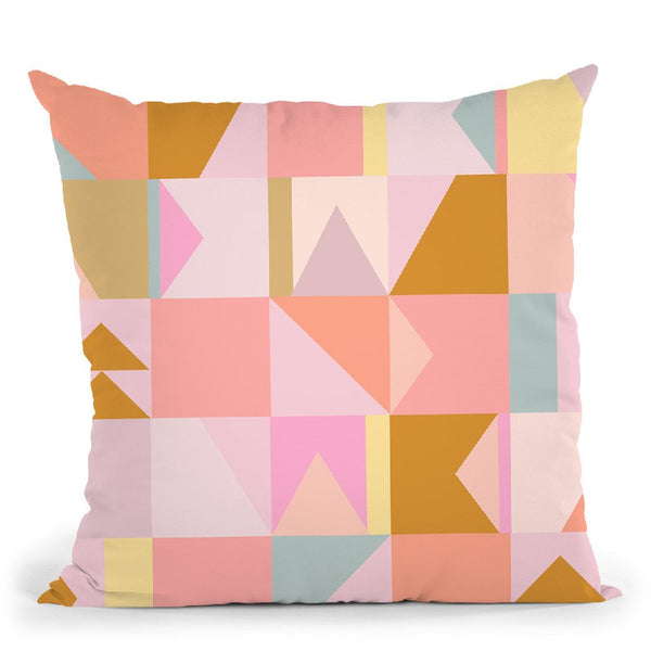Geometric Xi Throw Pillow By June Journal