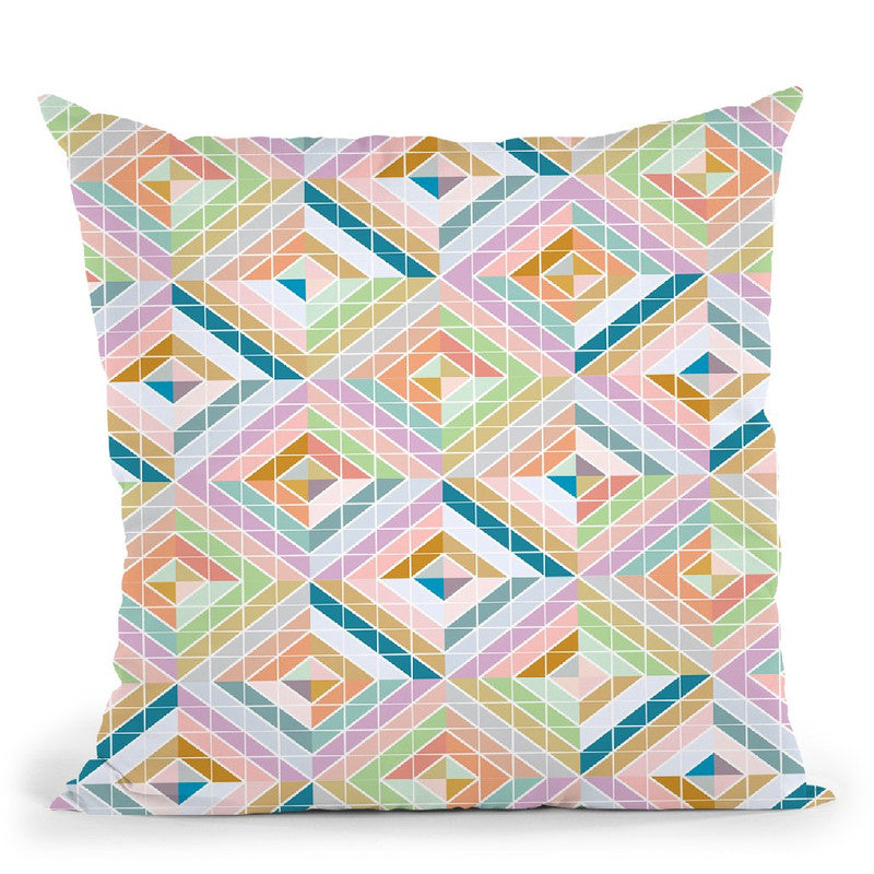 Geometric Xii Throw Pillow By June Journal
