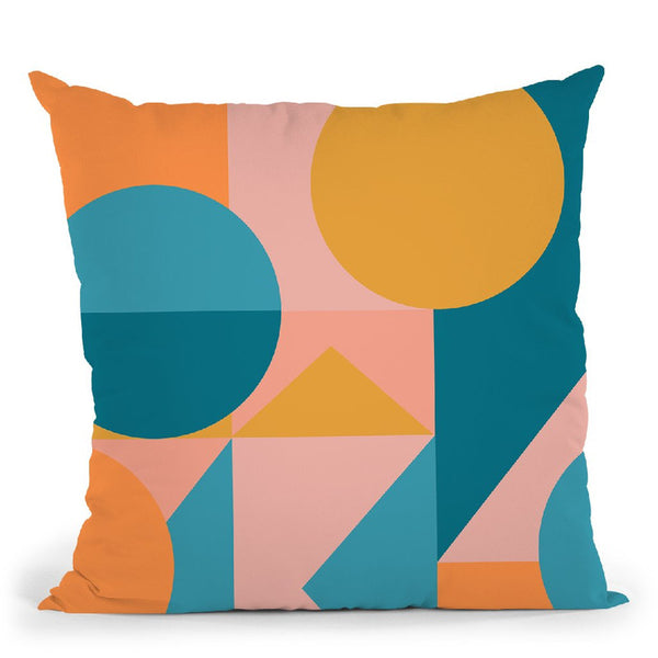 Geometric Xiv Throw Pillow By June Journal