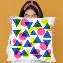 Geometric Xx Throw Pillow By June Journal