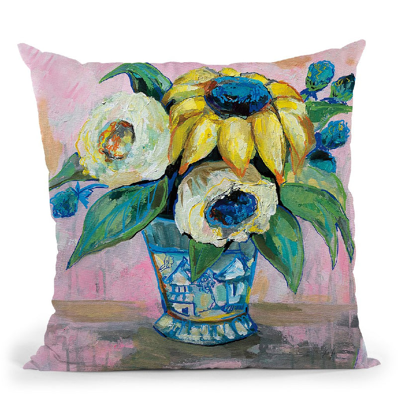 Ginger Jar Ii Throw Pillow By Jeanette Vertentes