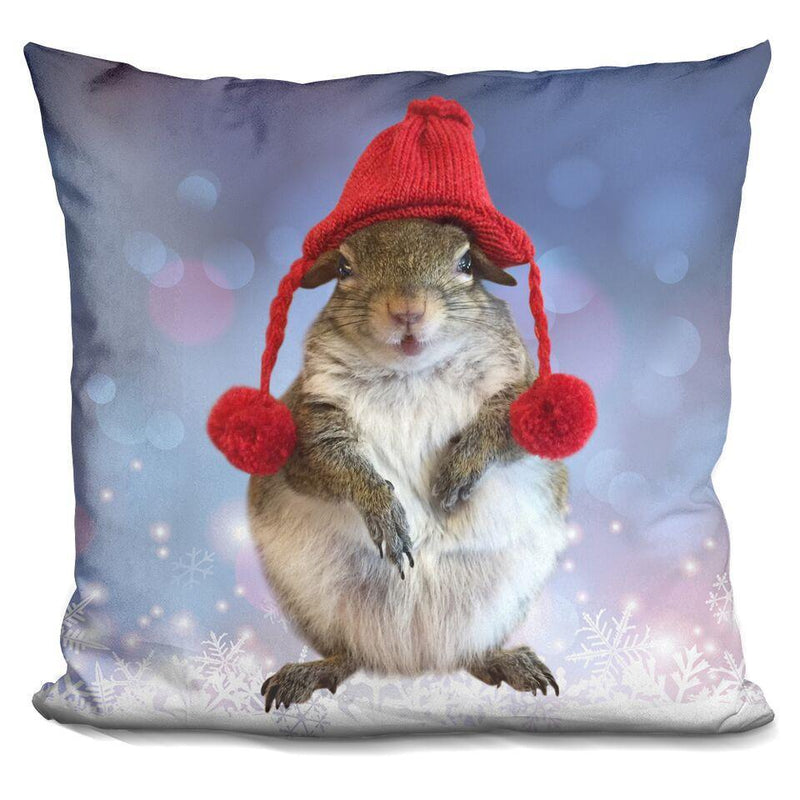 Jill Red Hat Square Pillow