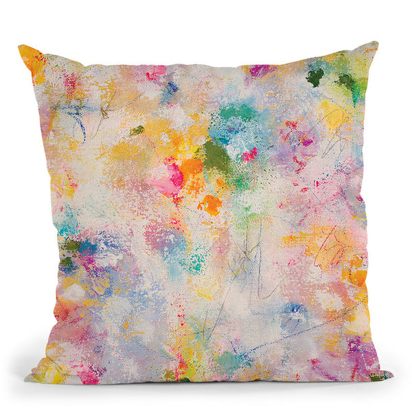 Poetry In The Garden Throw Pillow By Kathleen Reits
