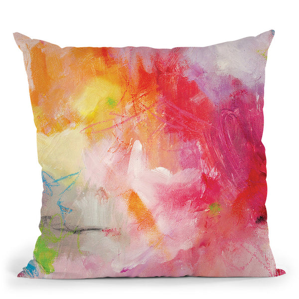 Red Love Throw Pillow By Kathleen Reits