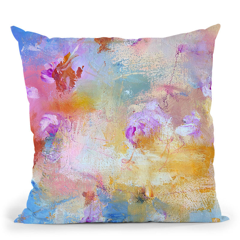 Sand And Petals Throw Pillow By Kathleen Reits
