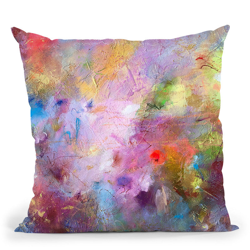 The Gift Throw Pillow By Kathleen Reits