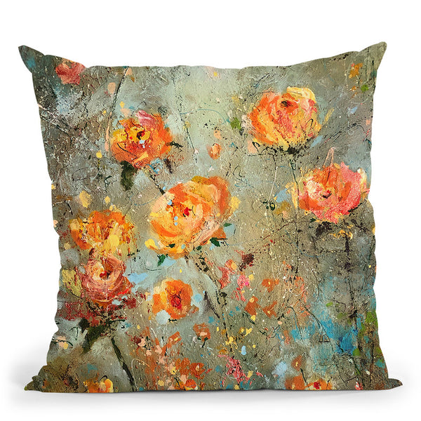 Warmth In Theadows Throw Pillow By Kathleen Reits