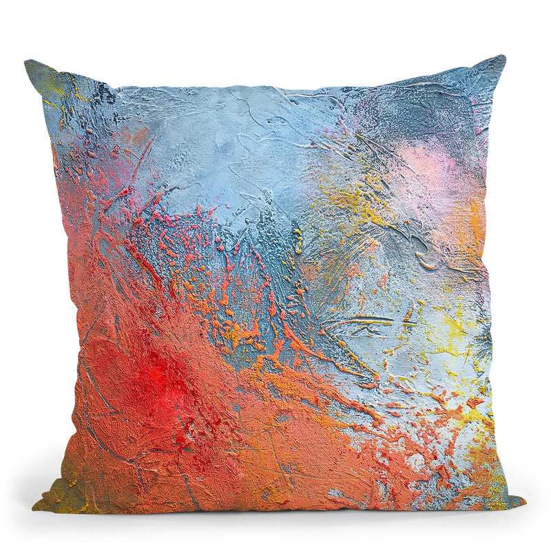 Waves Of Love Throw Pillow By Kathleen Reits