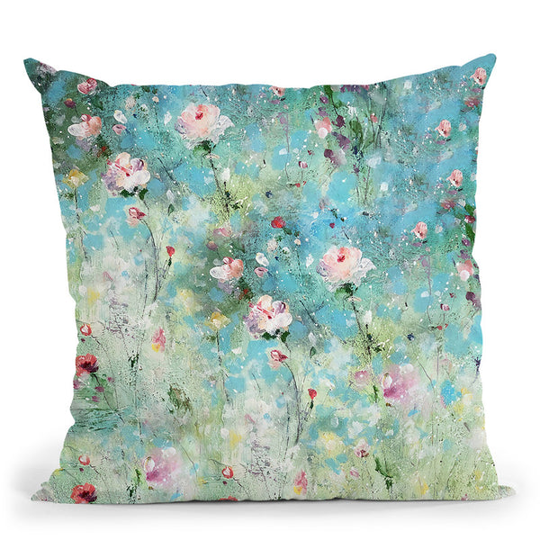 In The Garden Where Fairies Play Throw Pillow By Kathleen Reits