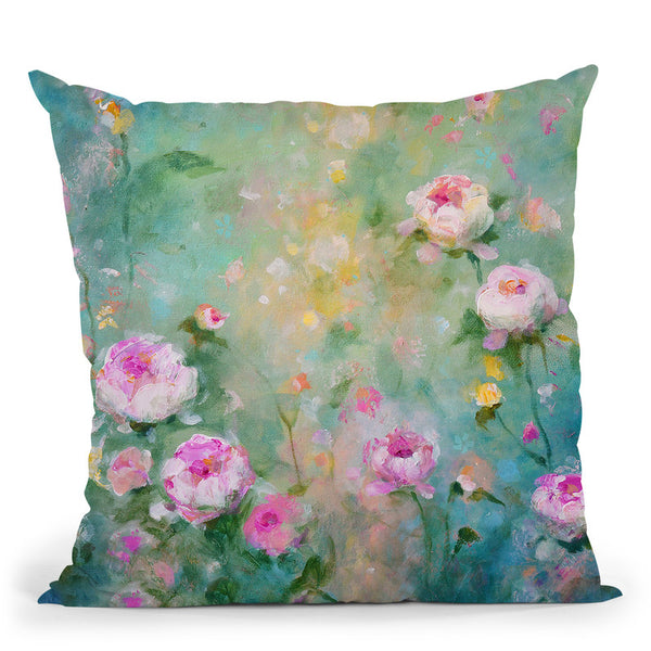 Peony Garden Throw Pillow By Kathleen Reits