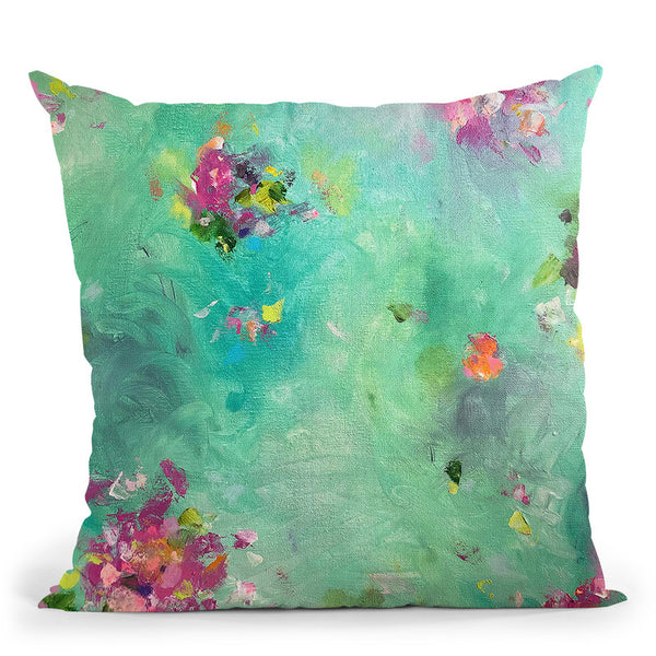 Pretty Bouquets Throw Pillow By Kathleen Reits