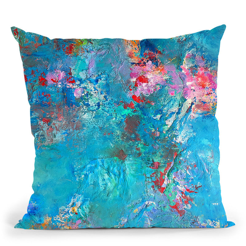 Reflecting Pond Throw Pillow By Kathleen Reits
