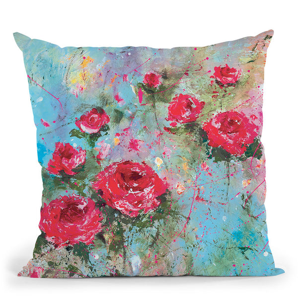 Rose Retreat Throw Pillow By Kathleen Reits