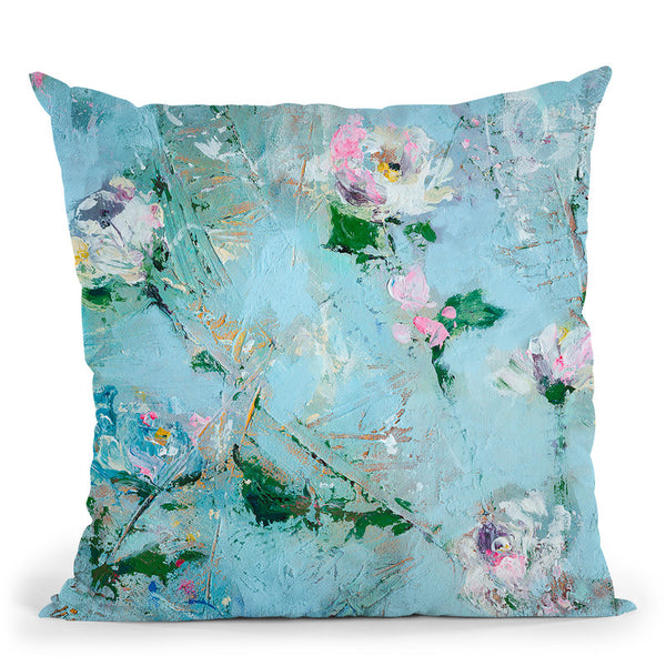 Scattered In Snow Throw Pillow By Kathleen Reits