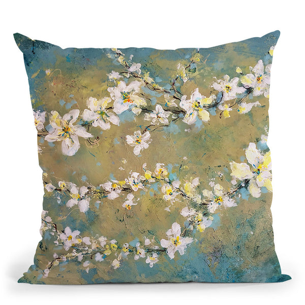 Sun Blooms Throw Pillow By Kathleen Reits
