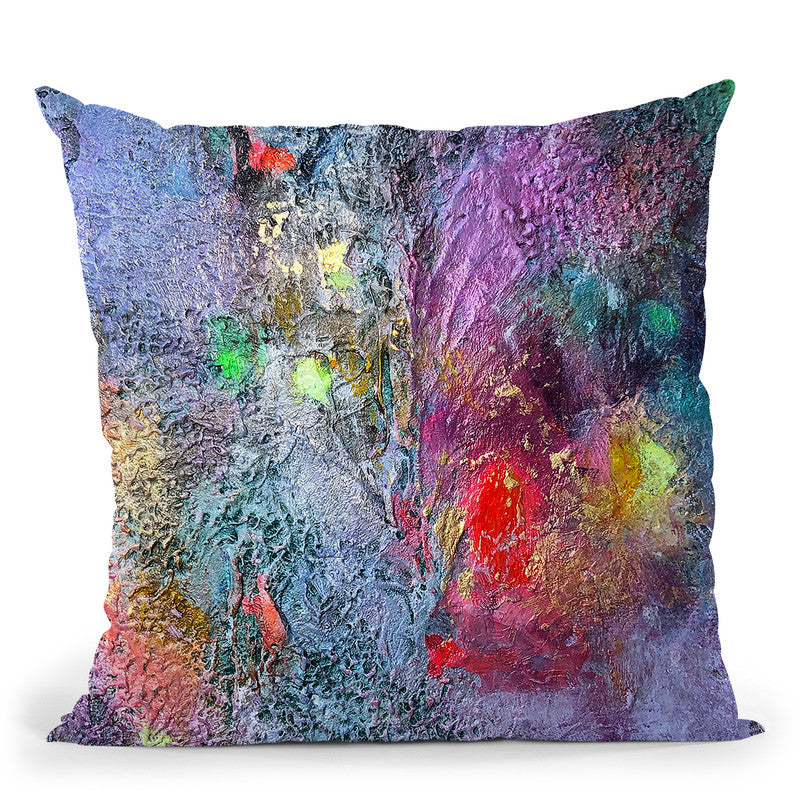 Lilacs And Courage Throw Pillow By Kathleen Reits