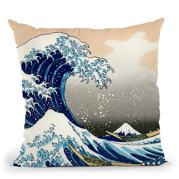 The Great Wave Throw Pillow By Katsushika Hokusai