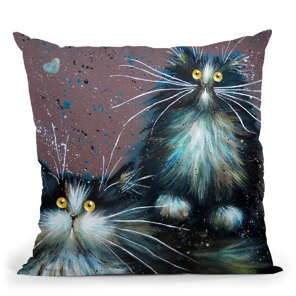 Bess And Boots Throw Pillow By Kim Haskins