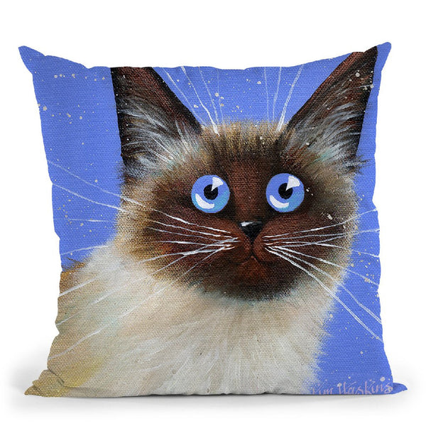 Blue Caboose Throw Pillow By Kim Huskins