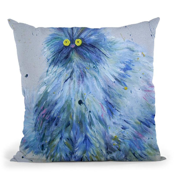 Blue Persian Throw Pillow By Kim Haskins