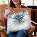 Copper Kitten Throw Pillow By Kim Huskins