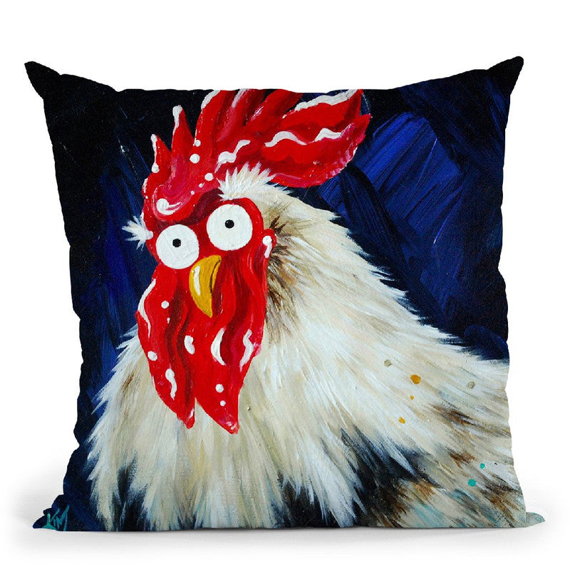 Dorking Dave Throw Pillow By Kim Huskins