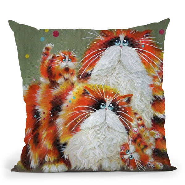 Eight More Paws Throw Pillow By Kim Huskins