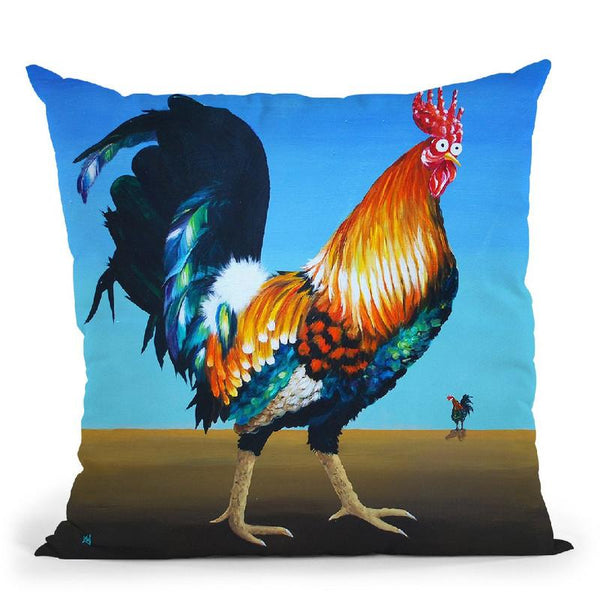 Famous Frank Throw Pillow By Kim Haskins
