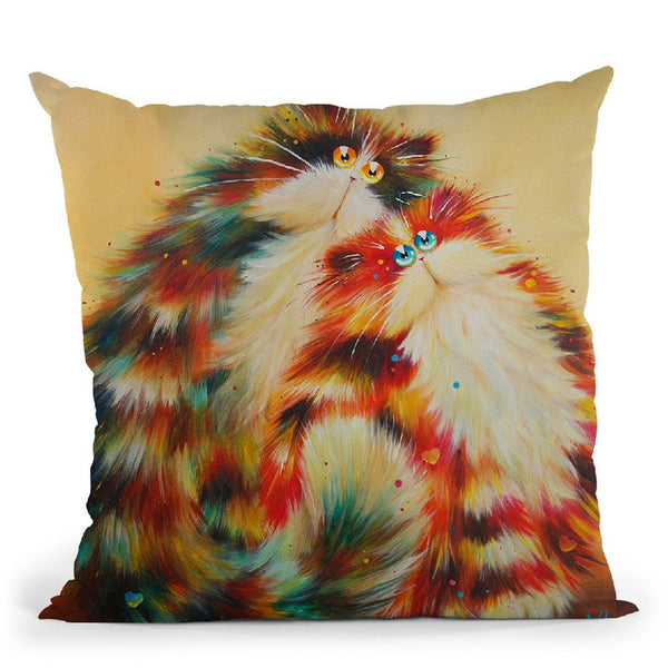 Felines For You Throw Pillow By Kim Huskins