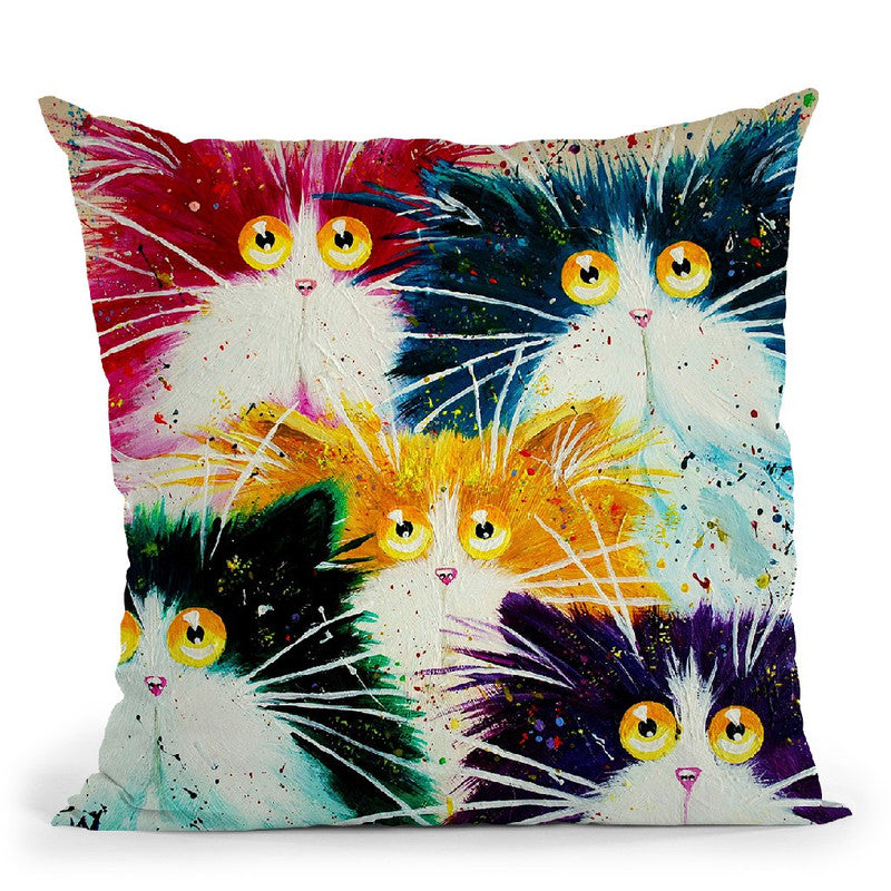 Flash Mog Multicoloured Throw Pillow By Kim Huskins